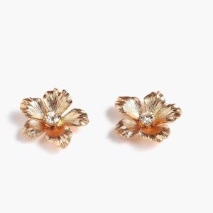 NWT J. Crew Women's Pansy Flower Earring Stud Post